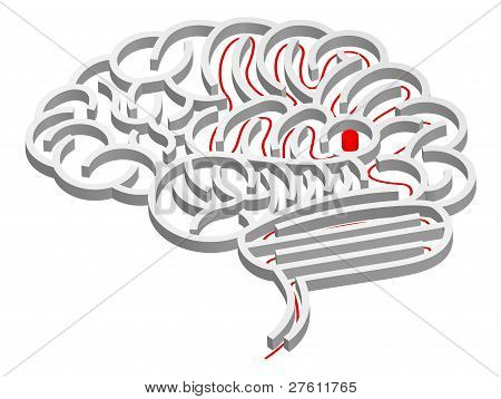 Gehirn Labyrinth Konzept