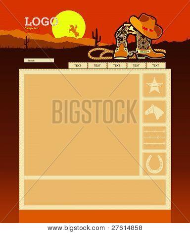 Plantilla de la Página Web de vaquero