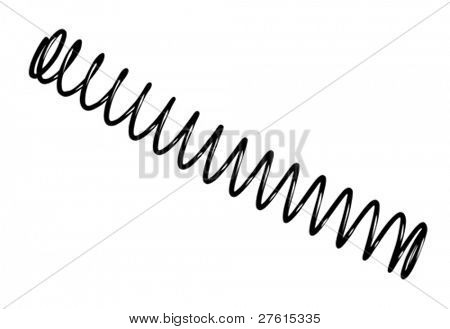 steel spring on white background, vector illustration