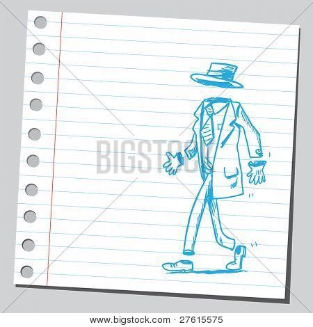 Invisible man walking