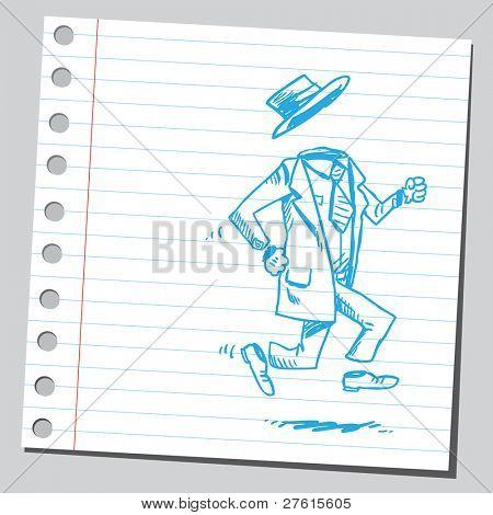Invisible man running