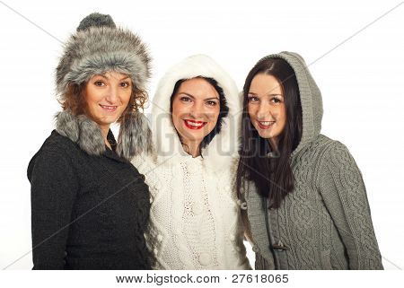 Happy Winter amigos mujeres
