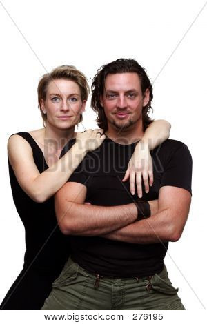 Isolated Couple Facing Camera