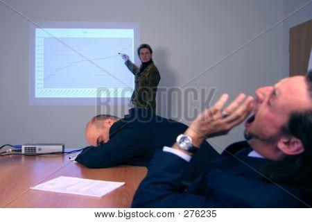 Langweilige Präsentation