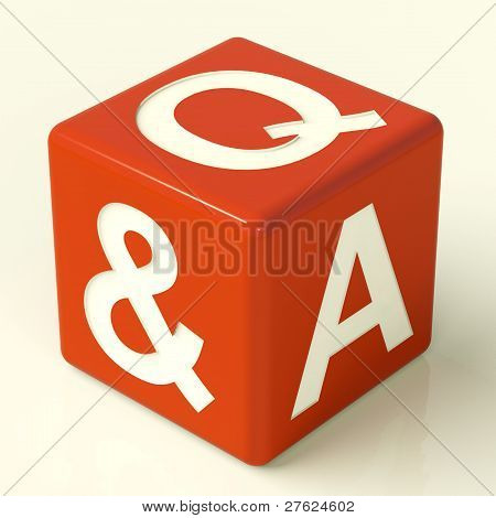 Question and Answer Dice As Symbol For Support
