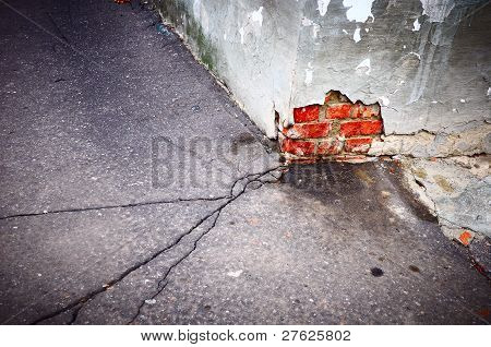 Crack In Asphalt Horizontal