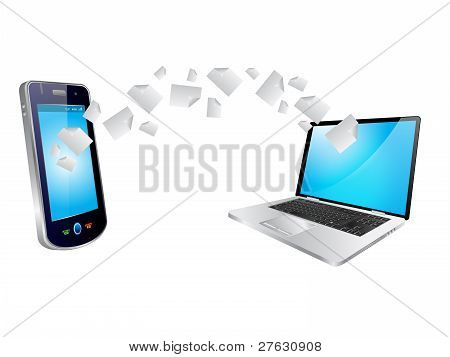 Copying Laptop And Mobile