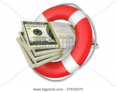 Life Buoy With Dolla.