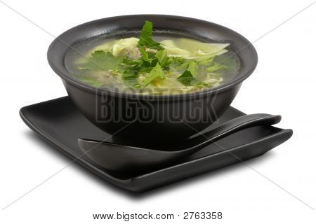 Tasty Broth On White, Isolated