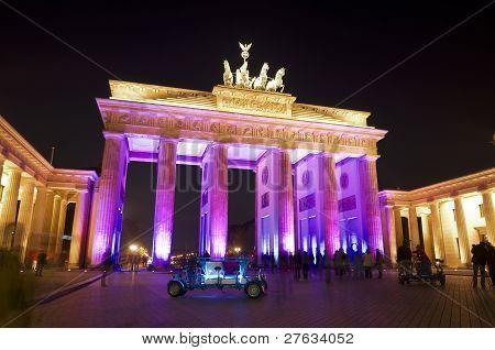 Festival Of Lights Brandenburger Tor Pink Rf