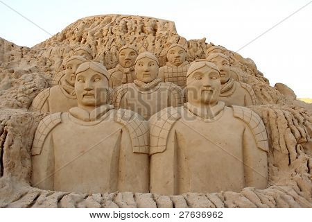 Chinese patriarchs made from sand