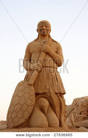 Warrior made from sand