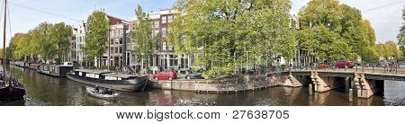 Panorama Amsterdam innercity in the Netherlands