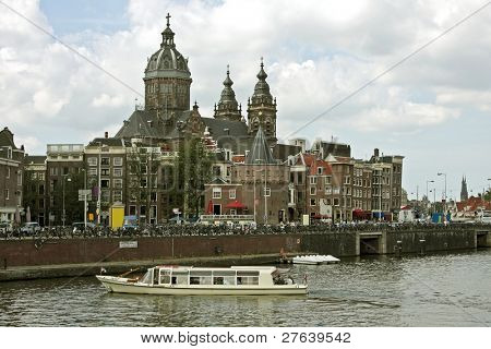 View at Amsterdam innercity in the Netherlands