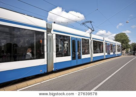 Public transport in Amsterdam the Netherlands