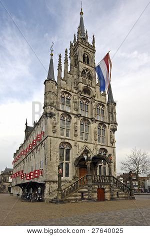 Medieval town hall in Gouda the Netherlands