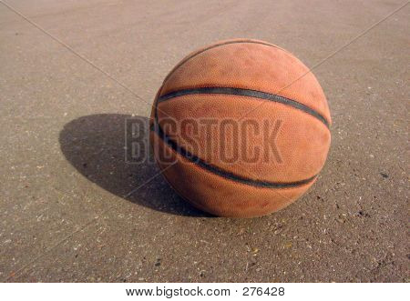 Basketball On Asphalt