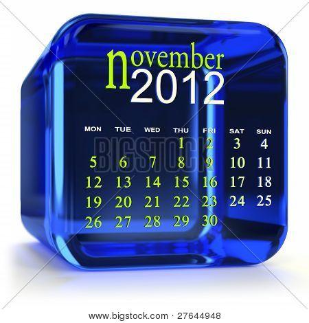 Blue November Calendar