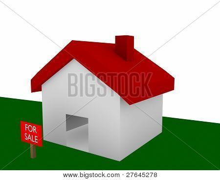 Render 3D de una casa para la venta