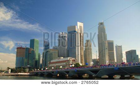 Stunning Skyscrapers And Bridge
