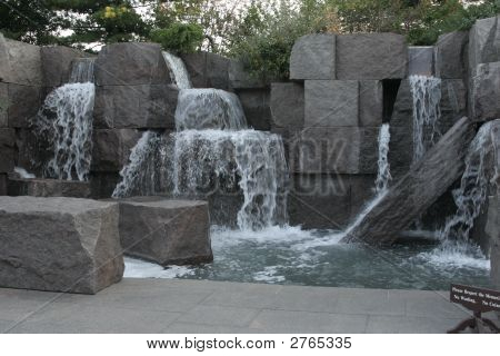 Waterfalls At Fdr Memorial