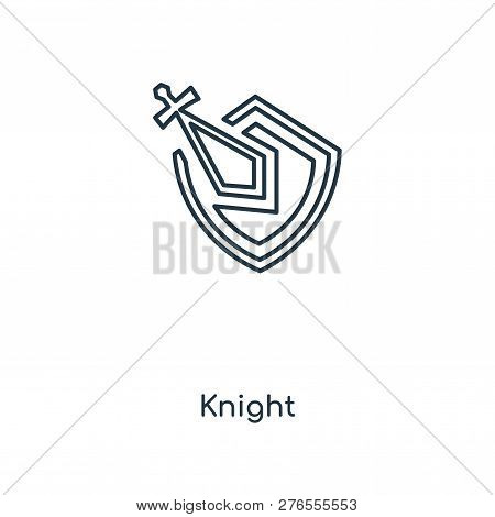Knight Icon In Trendy Design
