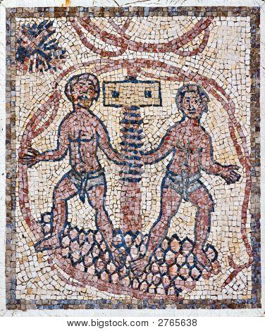 Roman Mosaic, Grapes-Press