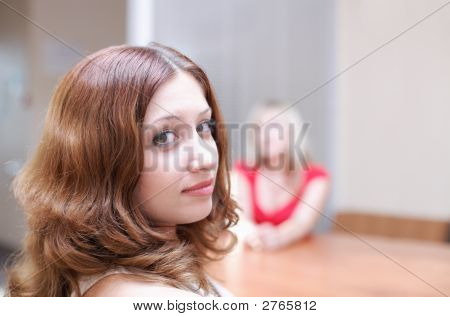 Girls Discuss Your Secrets In Office