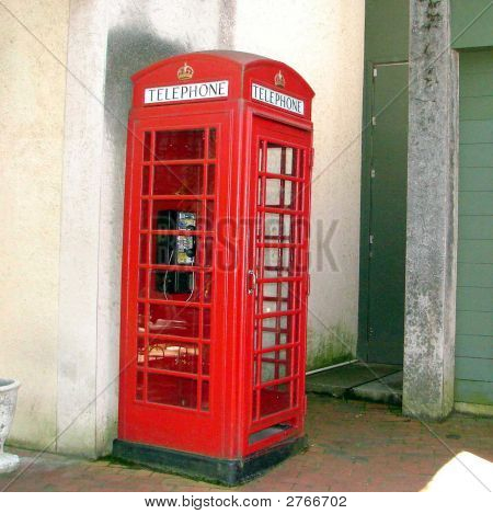 Red British Phone Booth