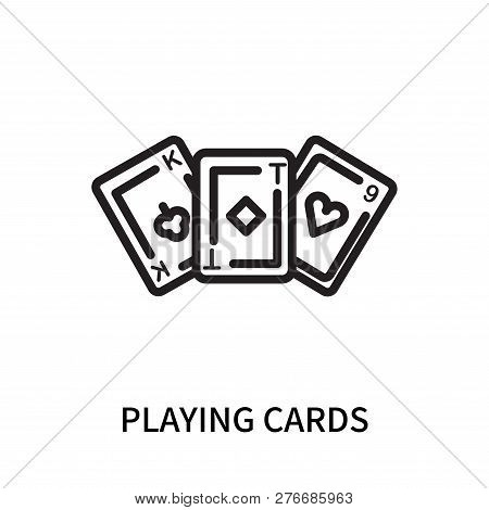 Playing Cards Icon Isolated On