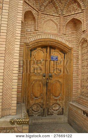 Aging wooden door, Kashgar, China