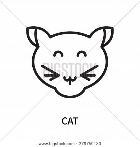 poster of Cat Icon Isolated On White Background. Cat Icon Simple Sign. Cat Icon Trendy And Modern Symbol For G