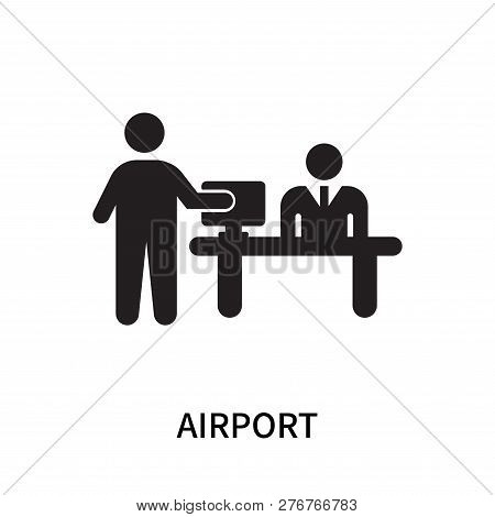 poster of Airport Icon Isolated On White Background. Airport Icon Simple Sign. Airport Icon Trendy And Modern