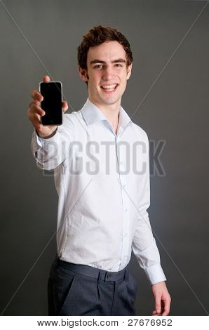 Man Holding A Cell Phone