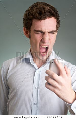 Screaming Man On Phone
