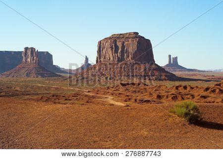 Monument Valley Landscape West Mitten
