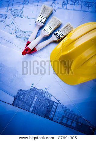 House plan blueprints