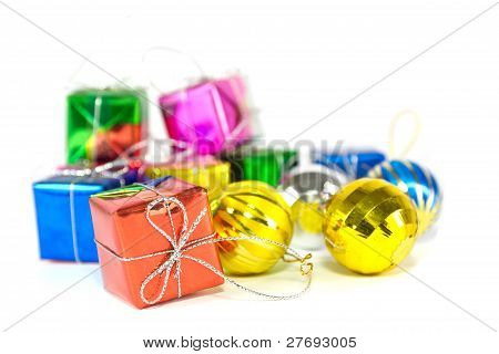 Holiday Gift Boxes And Balls