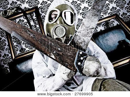 Verrückter & Gasmaske