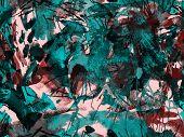Splatter Seamless Pattern. Blue Watercolor Brush Stroke Grunge Design. Watercolour Ikat Splash Paint poster