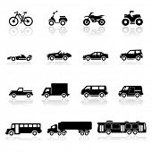 stock photo of  jeep  - Icons set cars - JPG