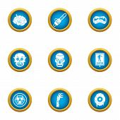 Zombie Craving Icons Set. Flat Set Of 9 Zombie Craving Icons For Web Isolated On White Background poster