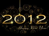 image of new years celebration  - 2012 Happy New Year greeting card or background - JPG