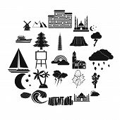 Dusk Icons Set. Simple Set Of 25 Dusk Icons For Web Isolated On White Background poster