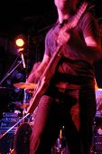 image of night-club  - Guitar rock band player performing at night club - JPG