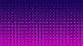 Gradient Halftone Pattern Horizontal Vector Illustration. Pink Dots, Blue Halftone Texture. Color Ha poster