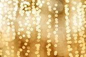 Lighting Bokeh Gold Bright Christmas Happy New Year Background, Glamour Gold Color Background, Blurr poster