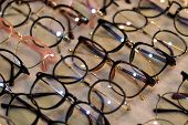 Glasses, Eyeglasses Optical Store, Fashion Eyewear At Night Market, Colorful Glasses, Glasses On She poster