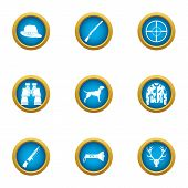 Determination Icons Set. Flat Set Of 9 Determination Icons For Web Isolated On White Background poster
