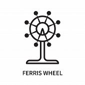 Ferris Wheel Icon Isolated On White Background. Ferris Wheel Icon Simple Sign. Ferris Wheel Icon Tre poster